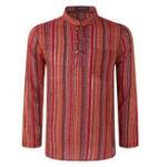 New Men Vintage 100% Cotton Striped Hippie T-Shirts
