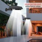 New Solar 30 LED PIR Motion Sensor Outdoor Yard Gutter Garden Wall Light Waterproof Security Lamp