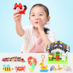 New 1200pcs DIY Fuse Bead Plastic Perler Sticky Water Beads Toys Funny For Kid DIY Crafts Gift