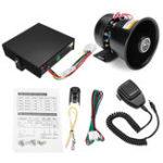 New 12V 400W 9 sound 150dB Loud Car Warning Alarm Police Fire Siren Horn Speaker System