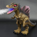 New Walking Dinosaur Spinosaurus Light Up Kids Toys Figure Sounds Real Movement LED