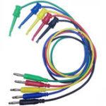 New DANIU 5pcs 4mm Banana Plug to Copper Dual Test Hook Clip Cable Lead Wire 100cm