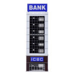 New N Scale 1/150 1/144 Outland Sand Table Modern Bank Skyscraper Building Model