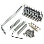 New 1 Set Guitar Accessories Chrome 6 Strings Electric Guitar Tremolo Bridge Strat for SQ ST Guitar