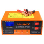 New 12/24V 10A Pulse Repair Battery Charger With LCD Lead Acid Battery Intelligent Charger For Car Motorcycle
