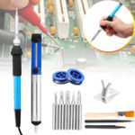 New 13Pcs 60W 110V/220V Electric Solder Iron Welding Tool Soldering Wire Iron Tips