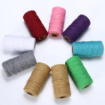 New 2MM Macrame Rustic Rope Colorful Cotton Twisted Cord String DIY Wedding Decor Supplies