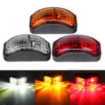 New 2-SMD LED Side Marker Lights Clearance Lamp 12-30V 54x24mm E4 Red/Yellow/White for Truck Trailer Van