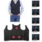 New Outdoor Men Winter Cycling Vest Rechargeable Heated Body Breathable Warm Jacket