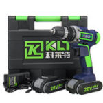 New 26V Electric Cordless Drill LCD Display 15 Torque Double Speed Adjustbale Power Drills W/ 2 Li-Ion Battery