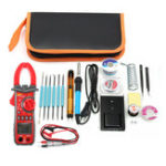 New 220V 60W Adjustable Temperature Welding Solder Iron Tool Kit + UA2008A Multimeter