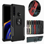 New Bakeey Protective Case For Samsung Galaxy A9 2018 Ring Grip Bracket Magnetic Adsorption Back Cover