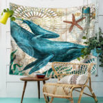 New Marine Animal Nordic Style Tapestry Wall Hanging Beach Towel Art Carpet Decorative Tapestry