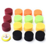 New 16pcs 2 Inch Sponge Flat Polishing Buffing Pad For Air Sander Polisher Kit