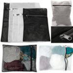 New 5Pcs 3 Sizes Zippered Mesh Laundry Wash Bag Lingerie Socks Underwear Clothes Storage