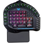 New AULA Blue Switch RGB One-Handed Mechanical Gaming Keyboard with Wrist Pad
