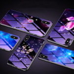 New Bakeey Electroplated Blu-Ray Tempered Glass Soft TPU Edge Protective Case For Xiaomi Redmi Note 6 Pro