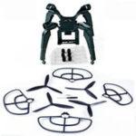 New Upgraded Spring Landing Gear Skid Camera Mount Bracket Blade Props Guard for MJX B2SE B2W Drone
