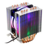 New 3 Pin CPU Cooler Cooling Fan Heatsink for Intel 775/1150/1151/1155/1156/1366 and AMD All Platforms 5 Colors Lighting