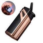 New JOBON Outdoor EDC Metal Lighter Windproof Butane Gas Refillable BBQ Ignitor Starter Device