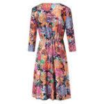New Women Casual Print Long Sleeve V-Neck Dress