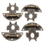 New Jewelry Wooden Box Lock Buckle Decorative Hardware Butterfly Clasp Antique Bronze