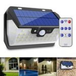 New 55 LED Solar Motion Sensor Light 3 Modes Outdoor Security Wall Lamp USB Charging