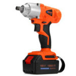 New 168VF Cordless Electric Impact Wrench W/ 19800mAh Li-ion Battery 380N/m High Torque Power Tool