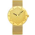 New CRRJU 2143 Creative Hollow Dial Design Quart Watch