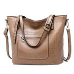 New Women Crocodile Pattern Handbag Large Capacity