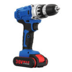 New 36V 1.3A Cordless Rechargeable Power Drill Driver Electric Screwdriver W/ 1 or 2 Li-ion Battery