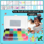 New 2400pcs DIY Fuse Bead Plastic Perler Stick Water Beads Toys Funny For Kid Crafts Gift