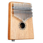 New 17 Keys EQ C Tone Mahogany Kalimba Thumb Piano Finger Percussion with Pickup
