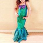 New Girls Mermaid Cosplay Dress 4Y-12Y