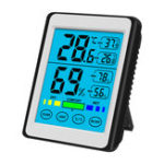 New High Precision Backlight Touch- Electronic Digital Display Temperature Hygrometer LCD Weather Station New