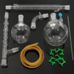 New 1000mL 24/29 Glass Vacuum Distillation Extraction Distilling Apparatus Kit Lab Glassware Set