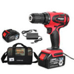 New 110V-240V 1500rpm Adjustable Electric Drill Cordless Power Screwdriver Rechargable With Li-ion Battery