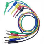 New DANIU 2pcs  4mm Banana Plug to Copper Dual Test Hook Clip Cable Lead Wire 100cm