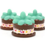 New Squishy Plant Chocolate Cream Cake 9CM Slow Rising Rebound Toys With Packaging Gift Decor