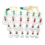 New 24 Cups Chinese Acupuncture Vacuum Cupping Massage Set