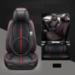 New 4Pcs Polyester Fiber 6D Car Full Surround Seat Cover Cushion Protector Set Universal for 5 Seats Car