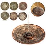 New 5 Holes Dragon Lotus Incense Burner Holder Retro Censer Plate For Stick Cone