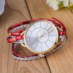 New Simple Dial Leather Strap Quartz Watch Women Bracelet Watch