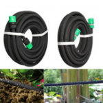 New 7.5/15m Watering Tubing Soaker Hose Watering Pipe Drip Seep Irrigation Garden Lawn