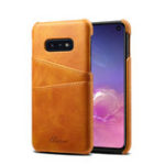 New Premium Cowhide Leather Card Slot Protective Case For Samsung Galaxy S10e 5.8 Inch