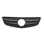 New Matte Black Front Grille Grill For Mercedes Benz C Class W204 C180 C200 C300 C350 2008-2014