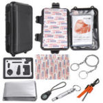 New 16 In 1 Outdoor EDC SOS Survival Tools Kit Case Camping Emergency Multifunctional Box