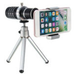New 12X Telescope Lens with Mini Desktop Portable Tripod Phone Clip