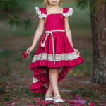 New Girls Children Lace Patchwork Sleeveless Princess Dress