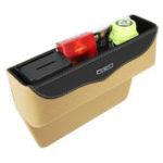 New Leather Car Seat Crevice Storage Bag Box Money Pot Auto Seat Gap Filler Organizer